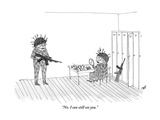 """""""No. I can still see you."""" - New Yorker Cartoon Premium Giclee Print by Edward Steed"""
