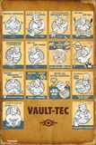 Fallout 4- Vault Tec Compilation Plakaty