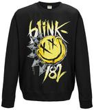 Crewneck Sweatshirt: Blink 182- Smiley T-skjorte