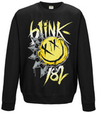 Crewneck Sweatshirt: Blink 182- Smiley Shirt