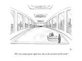 """He's not seeing anyone right now, due to the curvature of the earth."" - New Yorker Cartoon Premium Giclee Print by Paul Noth"