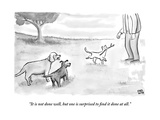 """It is not done well, but one is surprised to find it done at all."" - New Yorker Cartoon Premium Giclee Print by Paul Noth"