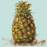 Contempo Pineapple Square II Poster af Patricia Pinto