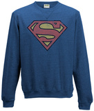 Crewneck Sweatshirt: Superman- Distressed Logo T-Shirts