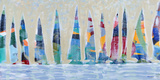 Dozen Colorful Boats Panel Posters by Dan Meneely