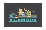 City Living Alameda Asphalt Posters