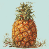 Contempo Pineapple Square I Plakater af Patricia Pinto