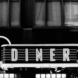 B&W Diner Poster by Susan Bryant