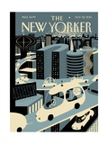 Asleep at the Wheel - The New Yorker Cover, November 25, 2013 Regular Giclee Print von Frank Viva