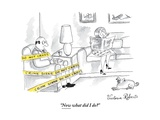 """Now what did I do"" - New Yorker Cartoon Premium Giclee-trykk av Victoria Roberts"