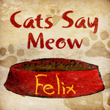 Cat's Say Meow Prints by Sd Graphics Studio