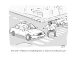 """I'm sorryit takes me a really long time to move in my ridiculous coat."" - New Yorker Cartoon Premium Giclee Print by Farley Katz"