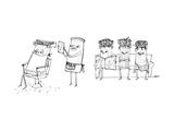 A Roman column gives another Roman column a haircut. - New Yorker Cartoon Premium Giclee Print by Edward Steed