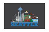 City Living Seattle Asphalt Posters