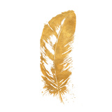 Gold Feather (gold foil) Posters by Patricia Pinto