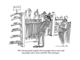 """""""We're having drinks tonight with some people who've eaten with some peopl"""" - New Yorker Cartoon Premium Giclee Print by Michael Crawford"""