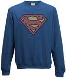 Crewneck Sweatshirt: Superman- Vintage Distressed Logo Tričko