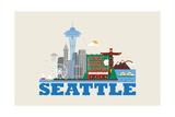 City Living Seattle Natural Prints