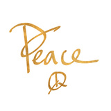 Peace (gold foil) Art by Sd Graphics Studio