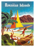 Hawaiian Islands Prints by  Pacifica Island Art