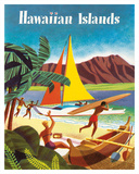 Hawaiian Islands Giclée-tryk af Pacifica Island Art