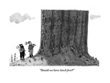"""Should we have lunch first"" - New Yorker Cartoon Premium Giclee Print by Jason Patterson"