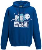 Hoodie: Adventure Time- Time To Get Awesome - Kapüşonlu Sweatshirt