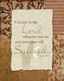 Commit to the Lord Poster by John Spaeth