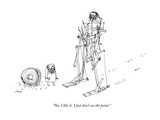 """No, I like it. I just don't see the point."" - New Yorker Cartoon Premium Giclee Print by Edward Steed"