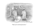 """They're for emotional protection."" - New Yorker Cartoon Premium Giclee Print by David Borchart"