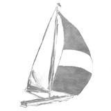 Full Sail Silver II (silver foil) ポスター : ジェーン・スリヴカ