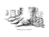 """Which part are you reading for"" - New Yorker Cartoon Premium Giclee Print by Shannon Wheeler"