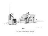 """I still haven't cleaned up from the party."" - New Yorker Cartoon Premium Giclee Print by Joe Dator"