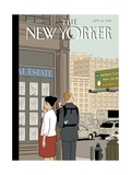 Crossroads - The New Yorker Cover, September 16, 2013 Regular Giclee Print by Adrian Tomine