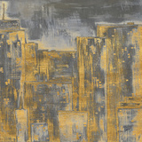 Gold City Eclipse Square II Prints by Gina Ritter