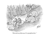"""Wait until one of them says, 'It's so peaceful out here.' "" - New Yorker Cartoon Premium Giclee Print by Tom Toro"