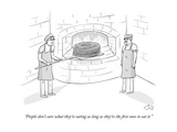 """People don't care what they're eating as long as they're the first ones t"" - New Yorker Cartoon Premium Giclee Print by Farley Katz"