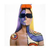 Model Sporting Makeup Shades for Summer 1967 Regular Photographic Print