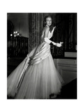 Chicago Debutante Joan Peterkin in Strapless, Tulle and White Satin Dior Dress Regular Photographic Print