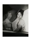 Mrs. W. Palmer Dixon Beside the Gerard Portrait of La Reine Hortense Photographic Print