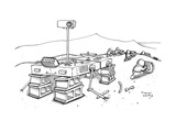 Martians are stealing the tires on a Martian rover. - New Yorker Cartoon Premium Giclee Print by Trevor Hoey