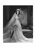 Mrs. John Simms Kelly (Brenda Frazier) in Wedding Gown Regular Photographic Print