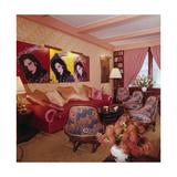 Living Room in Designer Diane Von Furstenberg's New York Apartment Photographic Print