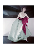 Model Suzy Parker Wearing Fath's Evening Dress Made in Three Separate Pieces Regular Photographic Print