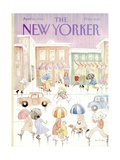 The New Yorker Cover - April 16, 1984 Regular Giclee Print by Anne Burgess