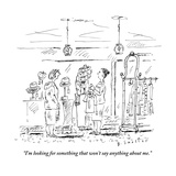 """I'm looking for something that won't say anything about me."" - New Yorker Cartoon Premium Giclee Print by Barbara Smaller"