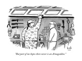 """But part of me hopes there never is an Armageddon."" - New Yorker Cartoon Premium Giclee Print by Bob Eckstein"