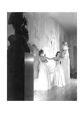 Two Debutantes at the River Club Ballroom (New York) Regular Photographic Print