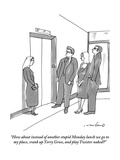 """""""How about instead of another stupid Monday lunch we go to my place, crank"""" - New Yorker Cartoon Premium Giclee Print by Michael Crawford"""