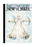 Snow Angel - The New Yorker Cover, December 23, 2013 Regular Giclee Print by Barry Blitt